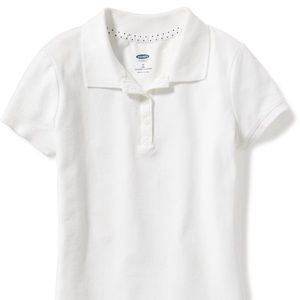 Old Navy Uniform Pique Polo for Girls Size 10-12